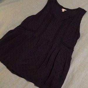 Merona tank blouse in dark navy